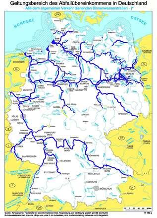 binnenwasserstraßen deutschland karte GDWS   Bundeswasserstraßenkarten